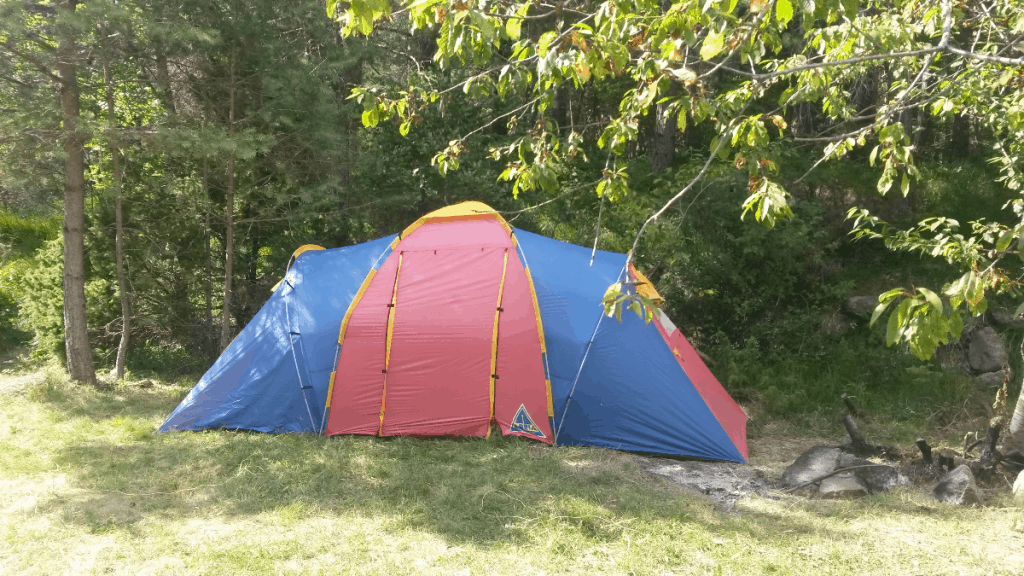 cabin tent in outdoors