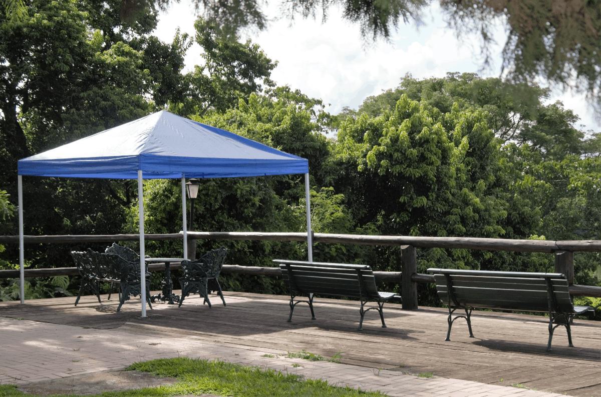 canopy on mezzanine