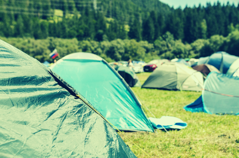 multiple tents in outdoors