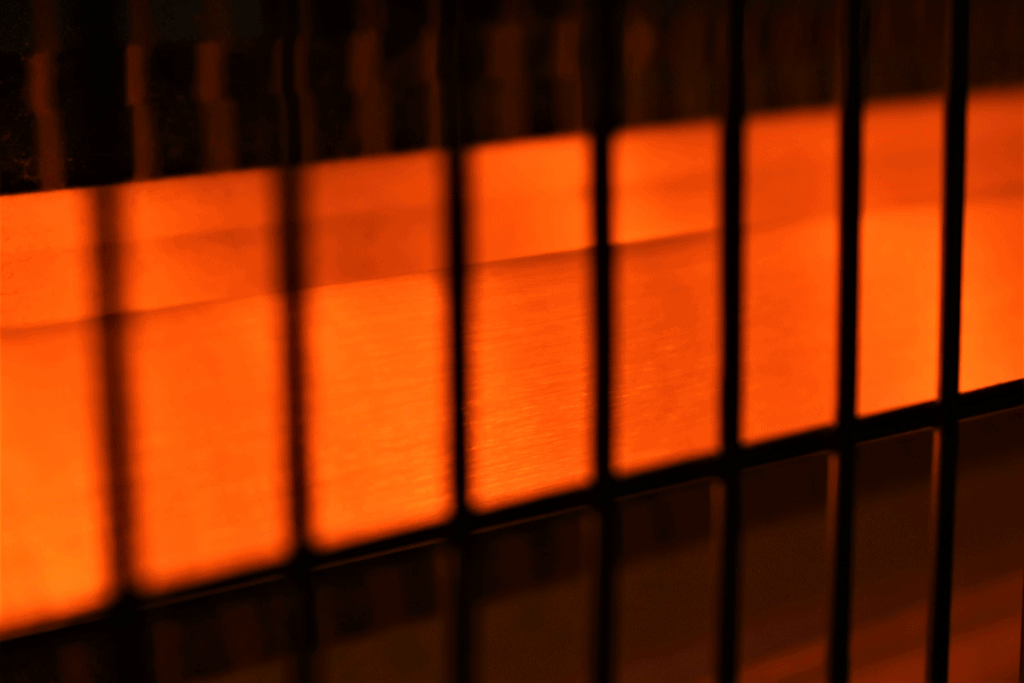 close up of heater coil