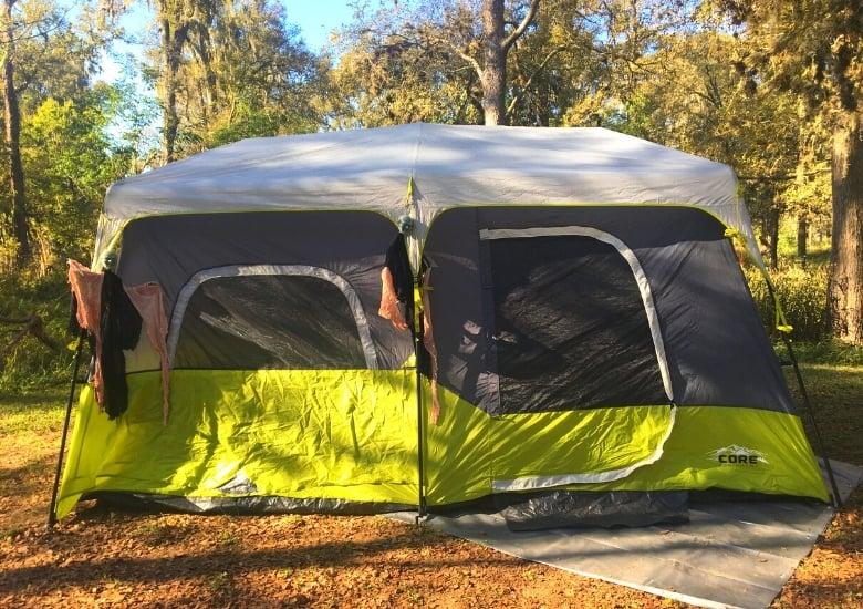 picture of 9 person tent outdoors