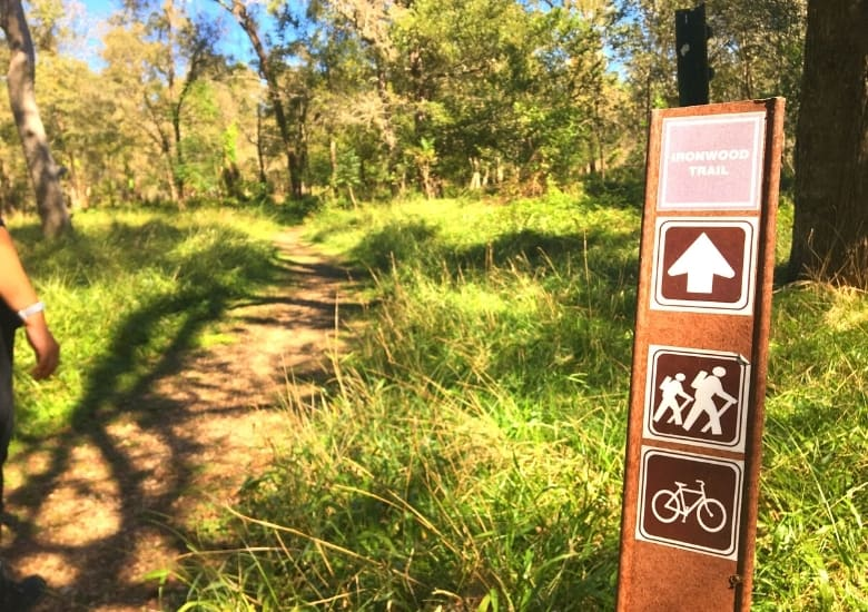 ironwood trail sign at sfa sp
