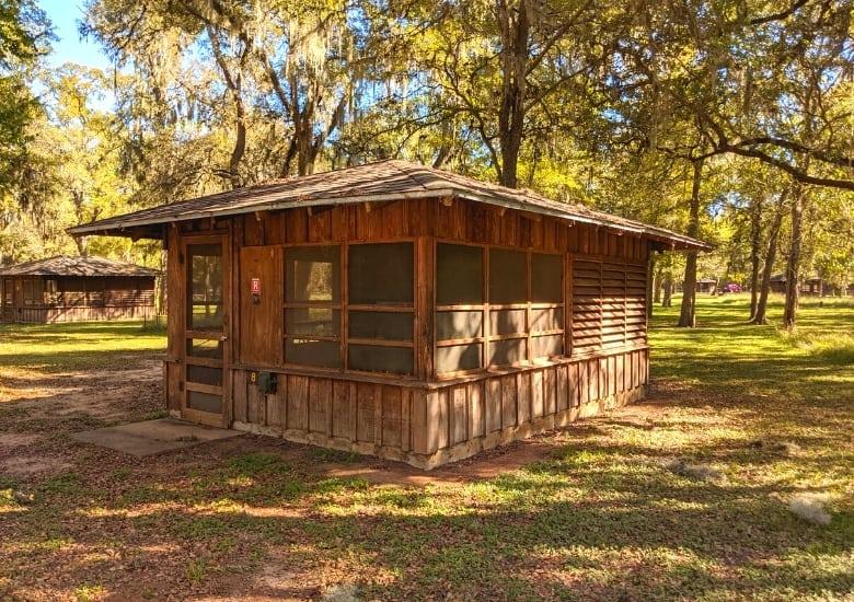 screened shelter outside