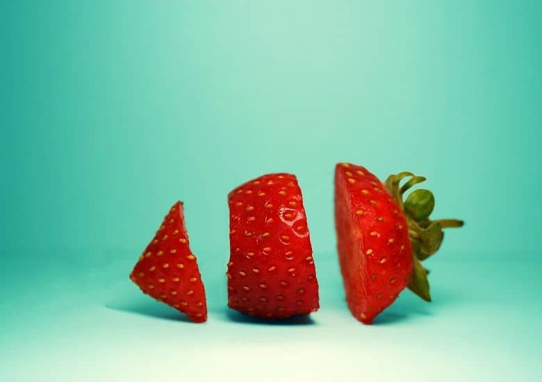strawberry cut into pieces