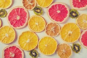 dehydrated oranges and grapefruit